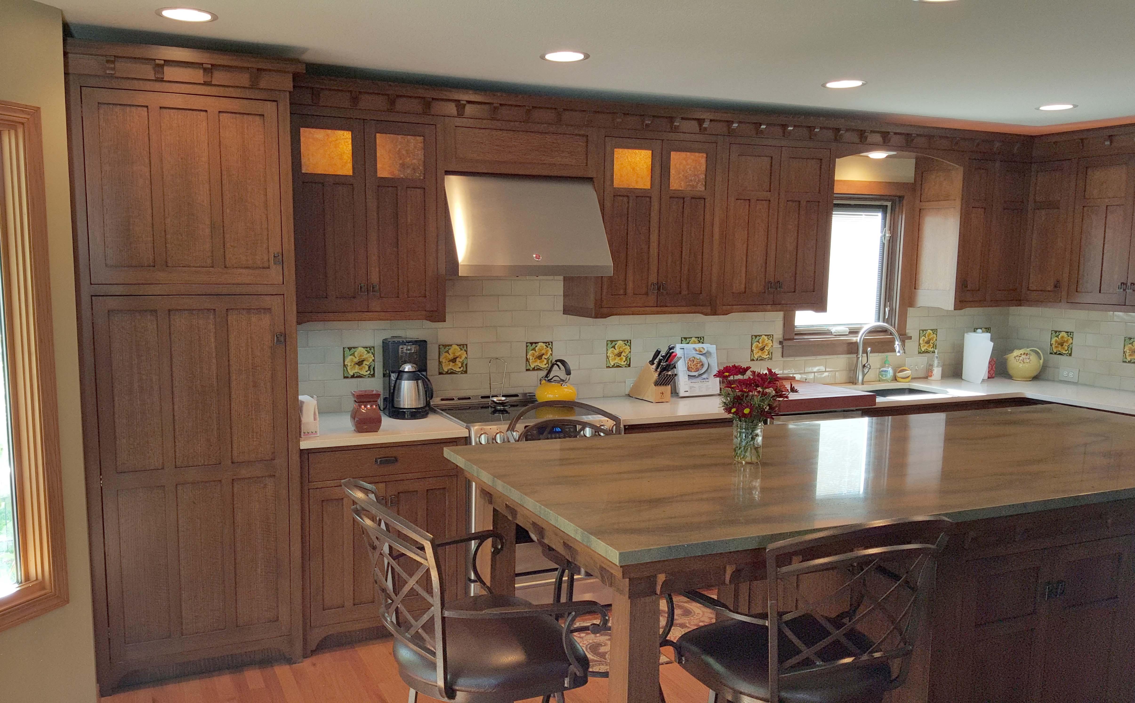 Mission Oak Kitchen